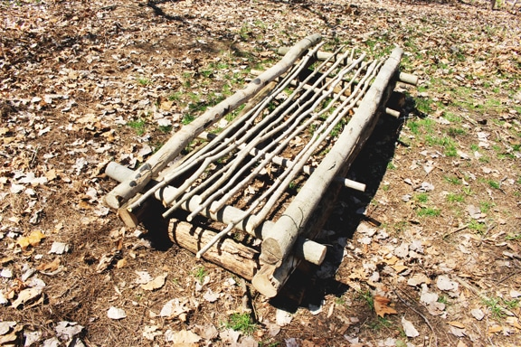survival shelter frame small stick for bed