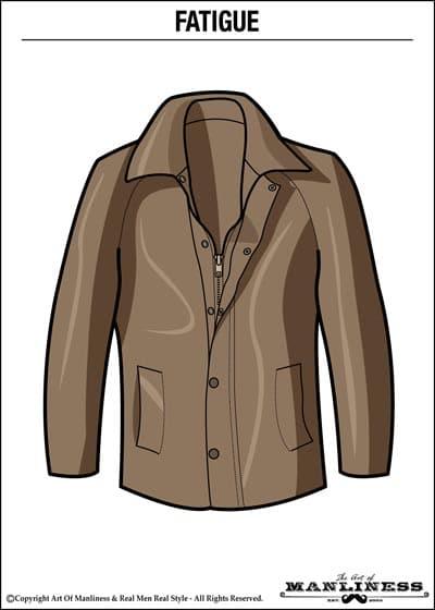 leather fatigue jacket illustration