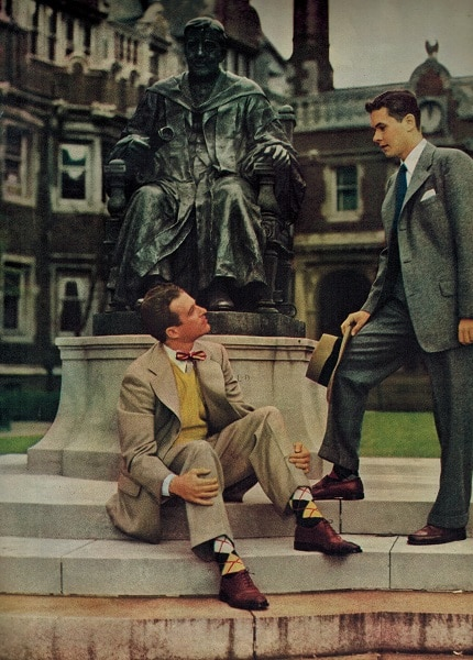 vintage 1948 college students in suits