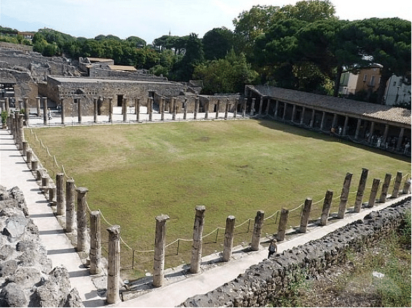 ancient greek remains of a gym