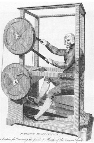 Gymnasticon calisthenics machine illustration