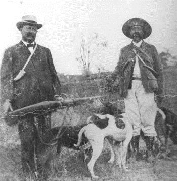 Theodore Roosevelt accompanied famous houndsmen Ben Lilly and Holt Collier on bear hunts in Louisiana using a pack of bear hounds