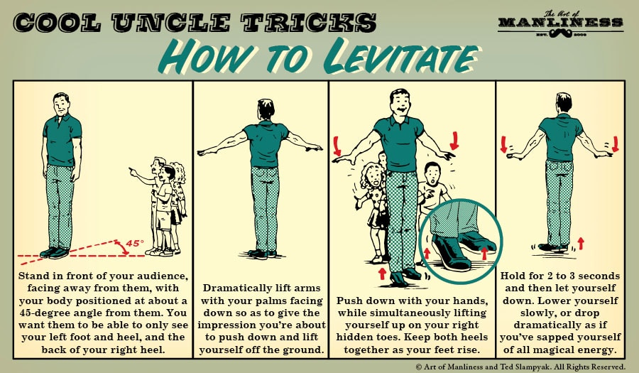 how to levitate magic trick illustration diagram