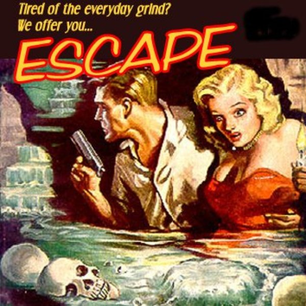 A painting of radio drama Escape.