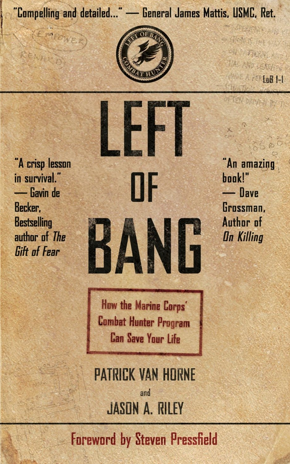 Book cover, left of bang by Steven Pressfield.