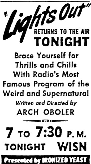 lights out old time radio show poster