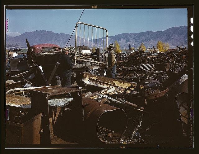 Vintage scrap junk yard.