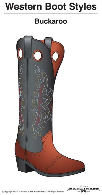 western boots styles buckaroo