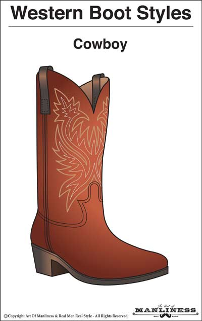 western boots styles cowboy