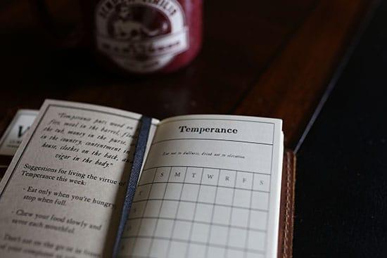 ben benjamin franklin virtue chart leather journal