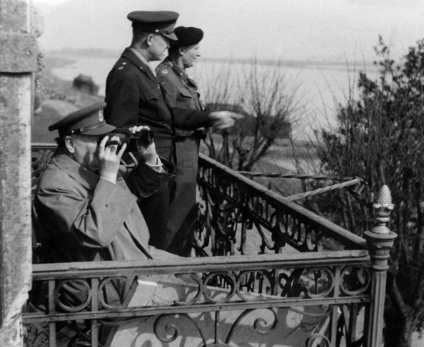 Winston Churchill With Dwight Eisenhower And Bernard Law Montgomery