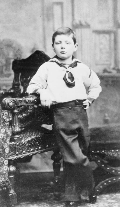 Winston Churchill dapper young boy portrait.