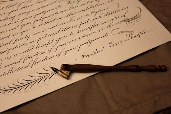 copperplate script penmanship
