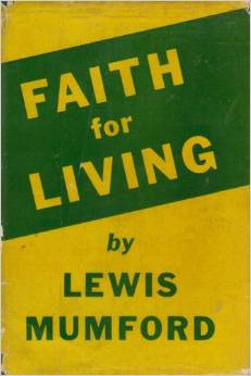faith for living book cover lewis mumford