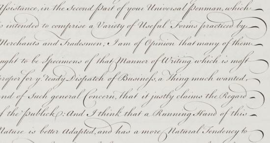 spencerian script handwriting style