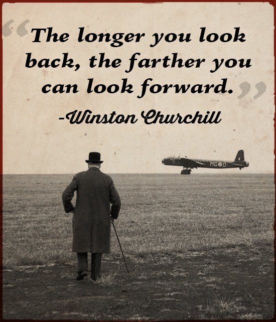 Quote Winston Churchill looking the Aeroplane.