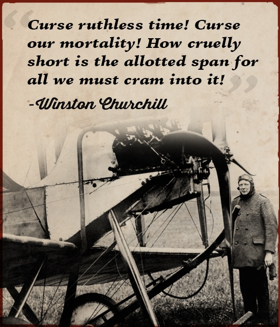 winston churchill quote curse ruthless time