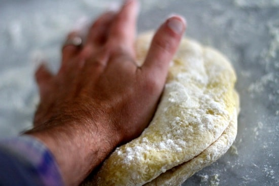 kneading dough pasta noodles