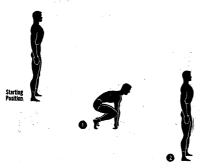 Army physical training Backfield Crouch.