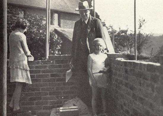 bricks and children