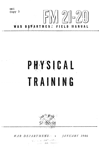 FM 21-20 army field manual Physical training.