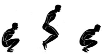 gorilla full squat jump