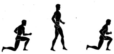 gorilla knee touch walk