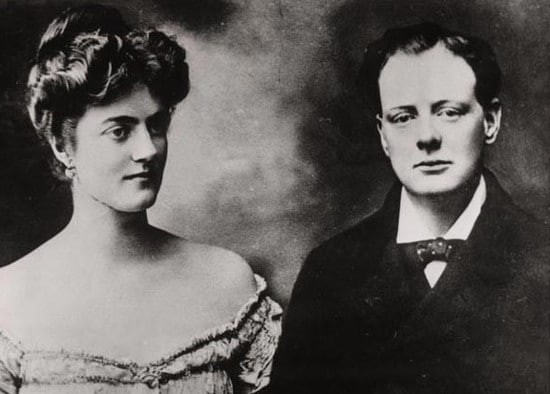 young winston and clementine churchill