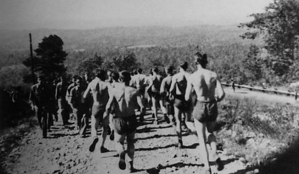 Army physical training Recruiting and Running.
