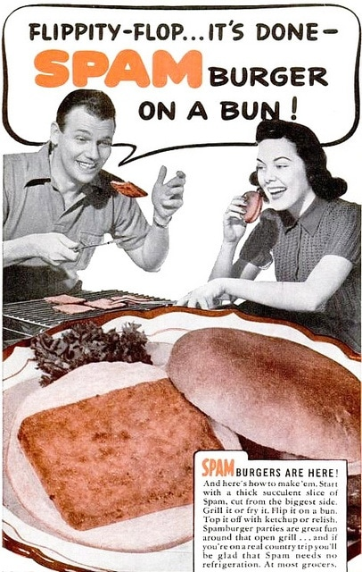 vintage spam burgers ad advertisement