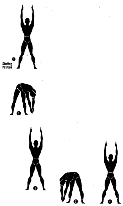 Army physical training turn and bend 3.