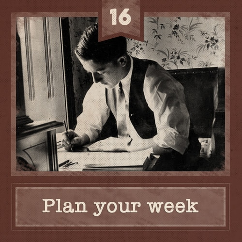 16 plan week