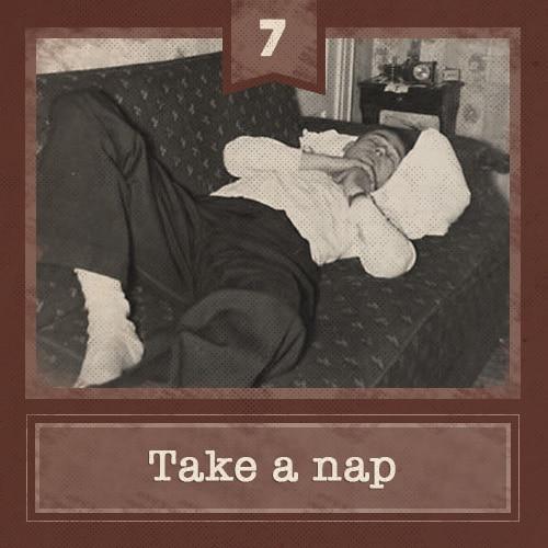 7 take nap
