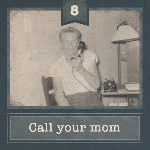 vintage young man on telephone
