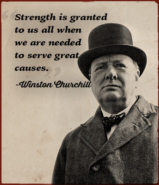 winston churchill strength is granted