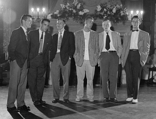vintage men at party with sports coats blazers