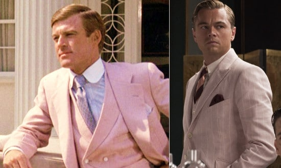 jay gatsby wearing pink suit in movies