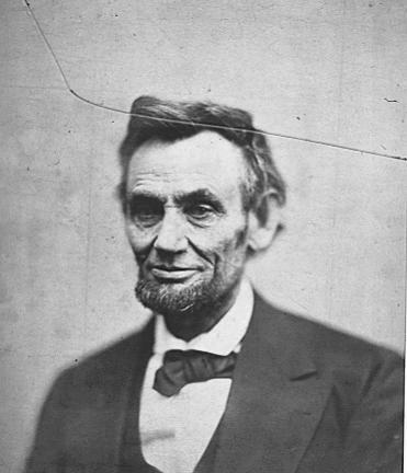 abraham lincoln portrait wearing tuxedo