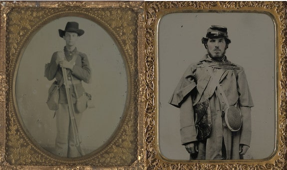 Soldiers of the 19th century carried their haversacks on their right shoulder