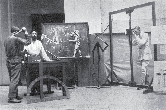 vintage science lab man taking photo of experiment