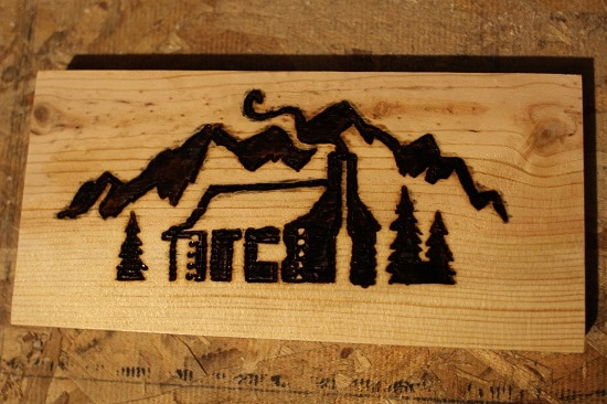 Woodburning complete.