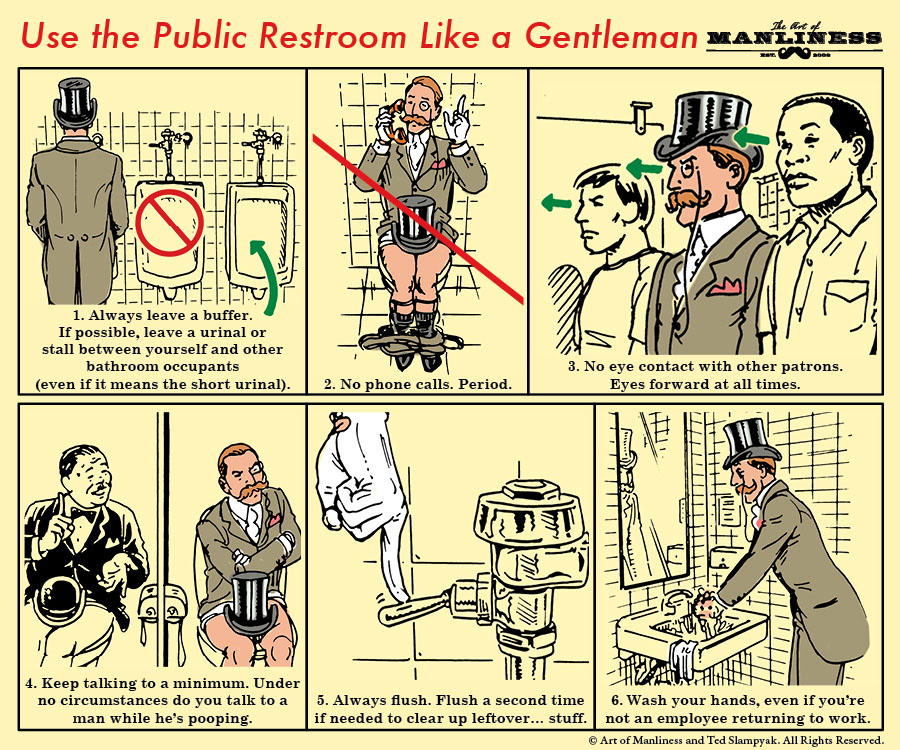 public bathroom restroom etiquette