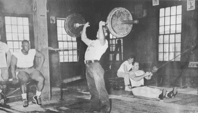 Vintage gym barbell.