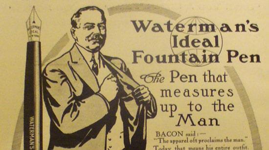 vintage fountain pen ad advertisement waterman