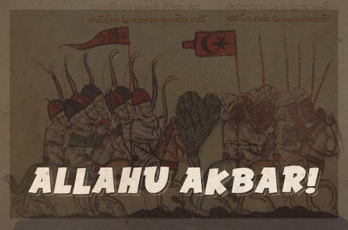 allahu akbar muslim battle cry