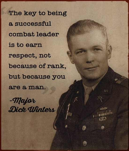 Major Dick Winters WWII portrait
