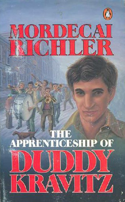 The Apprenticeship of Duddy Kravitz book cover Mordecai Richler.