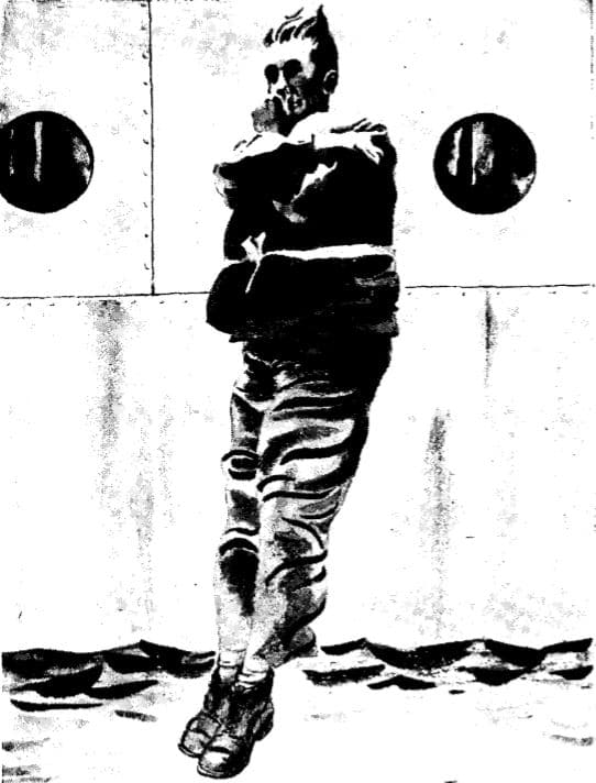 vintage wwii illustration jumping from ship