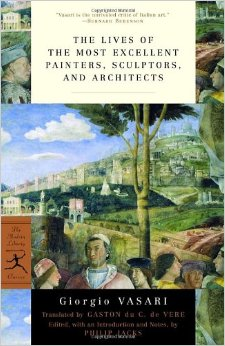 The Lives of the Most Excellent Painters, Sculptors, and Architects book cover Giorgio Vasari.