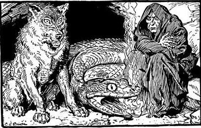 loki's children - hel, fenrir, jormungand